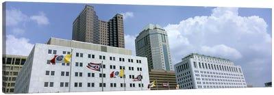 USA, Ohio, Columbus, Cloud over tall building structures #2 Canvas Print #PIM4687