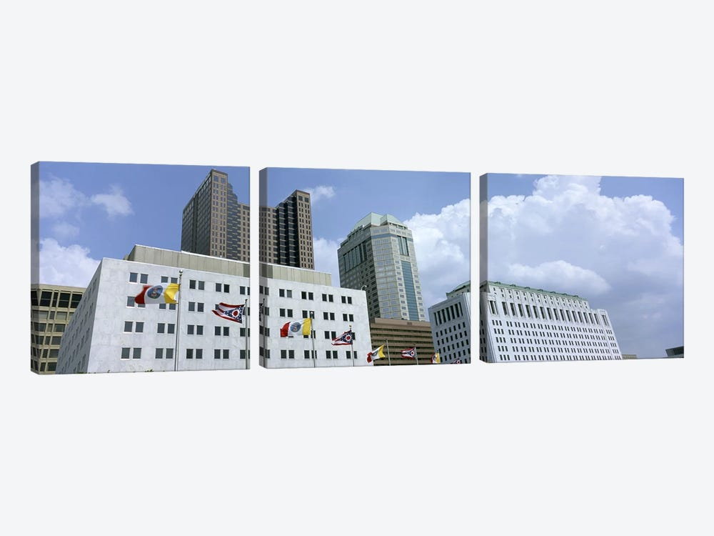 USA, Ohio, Columbus, Cloud over tall building structures #2 by Panoramic Images 3-piece Art Print