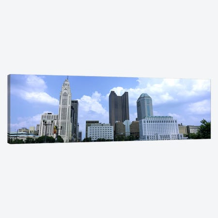 USA, Ohio, Columbus, Clouds over tall building structures Canvas Print #PIM4688} by Panoramic Images Art Print