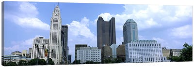 USA, Ohio, Columbus, Clouds over tall building structures Canvas Print #PIM4688