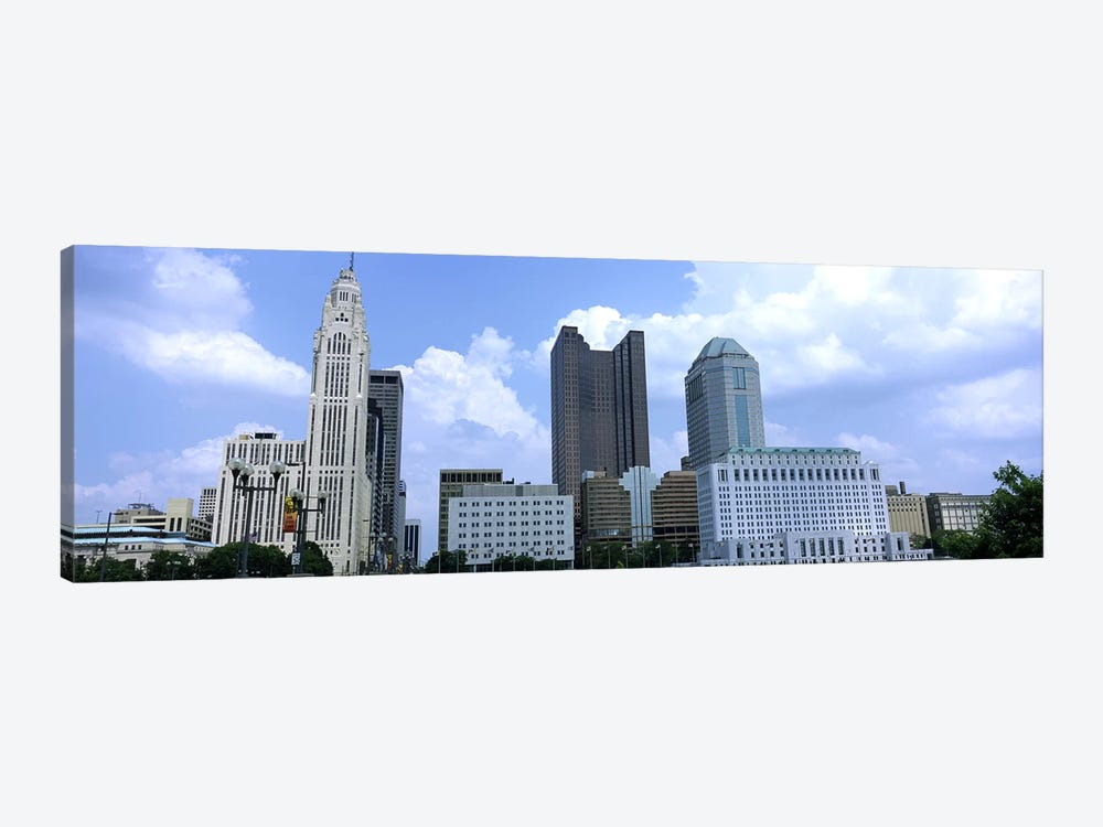 USA, Ohio, Columbus, Clouds over tall building structures by Panoramic Images 1-piece Canvas Wall Art