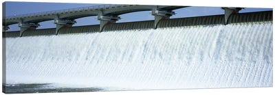 USA, Ohio, Columbus, Big Walnut Creek, Low angle view of a Dam Canvas Art Print