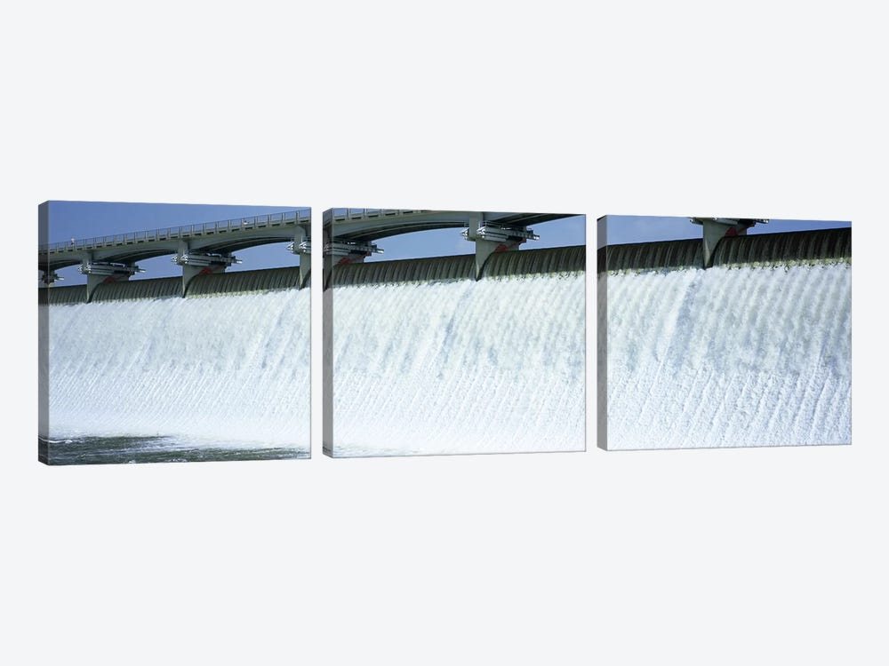 USA, Ohio, Columbus, Big Walnut Creek, Low angle view of a Dam by Panoramic Images 3-piece Canvas Art Print