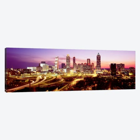 NightAtlanta, Georgia, USA Canvas Print #PIM468} by Panoramic Images Canvas Art