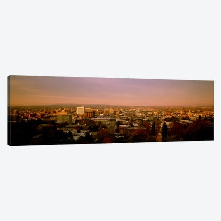 USA, Washington, Spokane, Cliff Park, High angle view of buildings in a city Canvas Print #PIM4694} by Panoramic Images Art Print