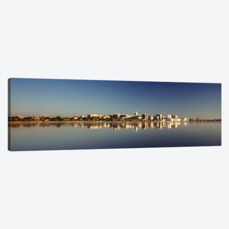 USA, Wisconsin, Madison, Lake Monona, City on a waterfront Canvas Print #PIM4695} by Panoramic Images Art Print