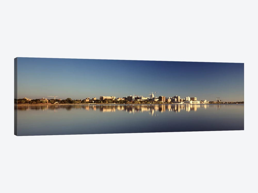 USA, Wisconsin, Madison, Lake Monona, City on a waterfront by Panoramic Images 1-piece Canvas Art