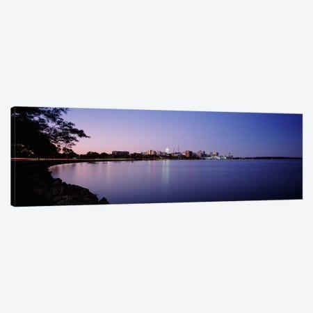 Buildings Along A Lake, Lake Monona, Madison, Wisconsin, USA Canvas Print #PIM4696} by Panoramic Images Art Print