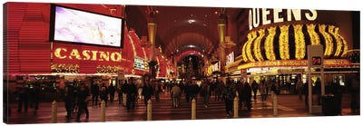 USA, Nevada, Las Vegas, The Fremont Street, Large group of people at a market street Canvas Print #PIM4697