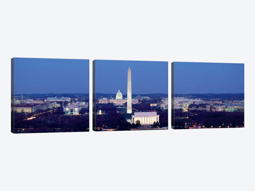 High angle view of a cityWashington DC, USA by Panoramic Images 3-piece Canvas Art
