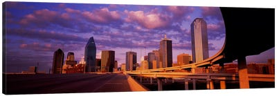 Skyscrapers in a city, Dallas, Texas, USA #2 Canvas Art Print