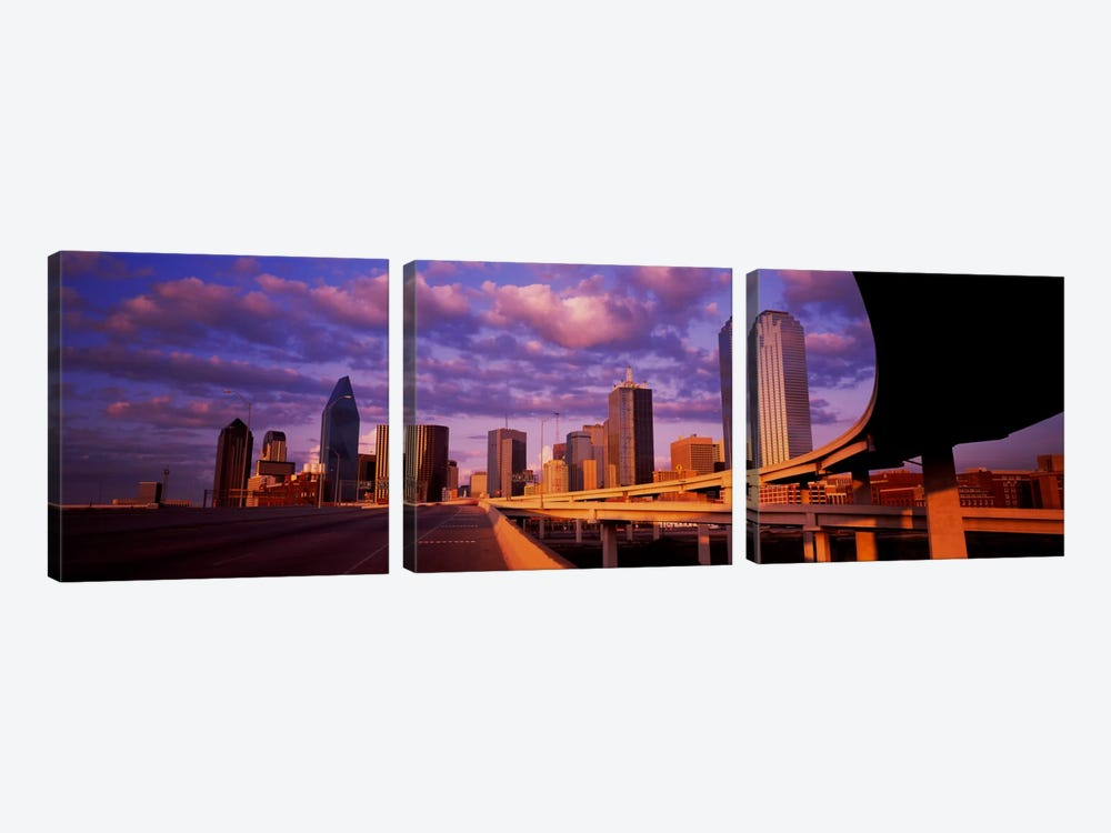 Skyscrapers in a city, Dallas, Texas, USA #2 3-piece Canvas Wall Art