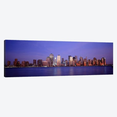 Skyscrapers in a city, Manhattan, New York City, New York, USA Canvas Print #PIM4704} by Panoramic Images Art Print