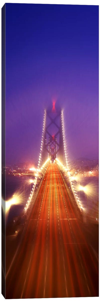 High angle view of suspension bridgeOakland Bay Bridge, San Francisco, California, USA Canvas Art Print