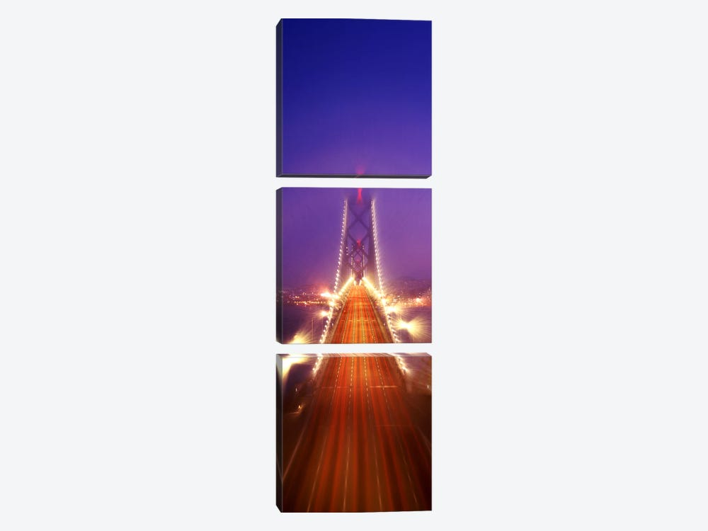 High angle view of suspension bridgeOakland Bay Bridge, San Francisco, California, USA by Panoramic Images 3-piece Canvas Wall Art