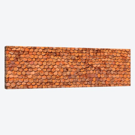 Close-Up Of Old Roof Tiles, Rothenburg ob der Tauber, Germany Canvas Print #PIM4708} by Panoramic Images Canvas Artwork