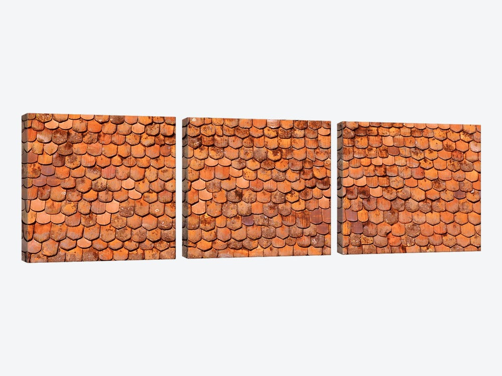 Close-Up Of Old Roof Tiles, Rothenburg ob der Tauber, Germany by Panoramic Images 3-piece Art Print