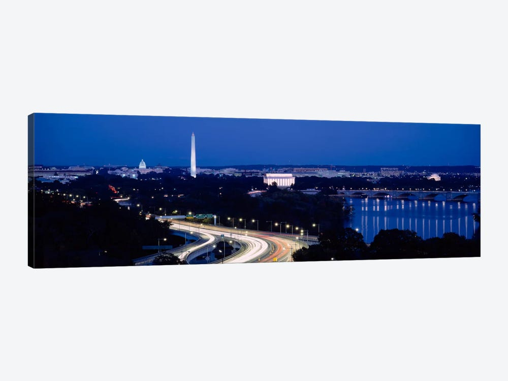 Traffic on the roadWashington Monument, Washington DC, USA by Panoramic Images 1-piece Canvas Art
