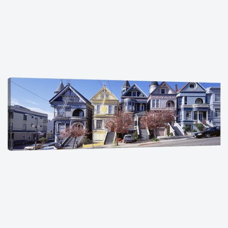 Cars Parked In Front Of Victorian Houses, San Francisco, California, USA Canvas Print #PIM4710} by Panoramic Images Art Print
