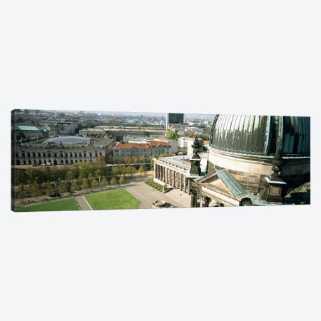 High angle view of a formal garden in front of a church, Berlin Dome, Altes Museum, Berlin, Germany Canvas Print #PIM4711} by Panoramic Images Canvas Print