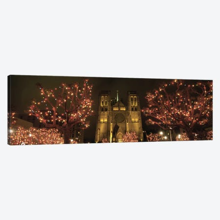 Facade Of A Church, Grace Cathedral, San Francisco, California, USA Canvas Print #PIM4714} by Panoramic Images Canvas Wall Art