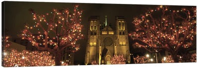 Facade Of A Church, Grace Cathedral, San Francisco, California, USA Canvas Art Print