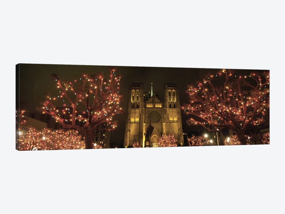 Facade Of A Church, Grace Cathedral, San Francisco, California, USA by Panoramic Images 1-piece Canvas Wall Art