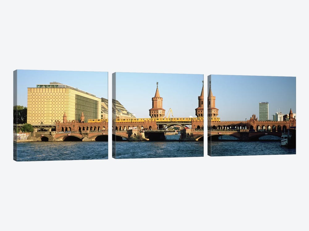 Oberbaum Bridge, Berlin, Germany by Panoramic Images 3-piece Canvas Art