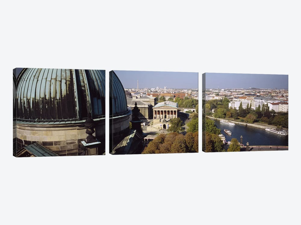 High-Angle View Of Alte Nationalgalerie (Old National Gallery), Berlin, Germany by Panoramic Images 3-piece Art Print