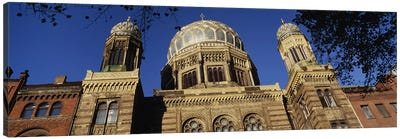 Low Angle View Of Jewish Synagogue, Berlin, Germany Canvas Art Print