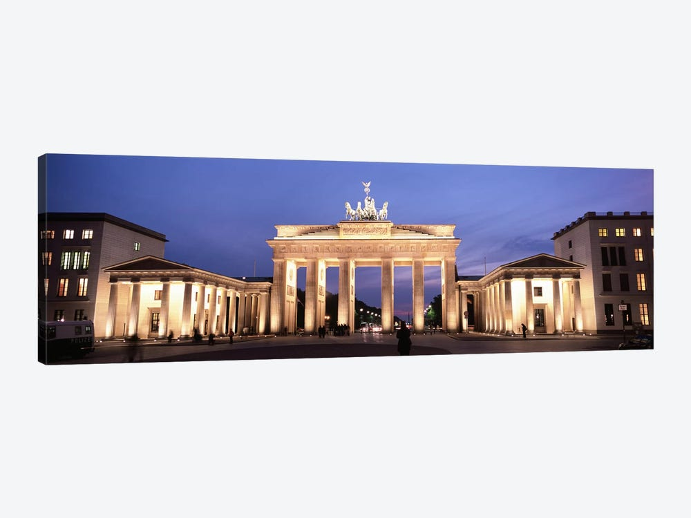 Illuminated Brandenburg Gate At Night, Berlin, Germany by Panoramic Images 1-piece Art Print