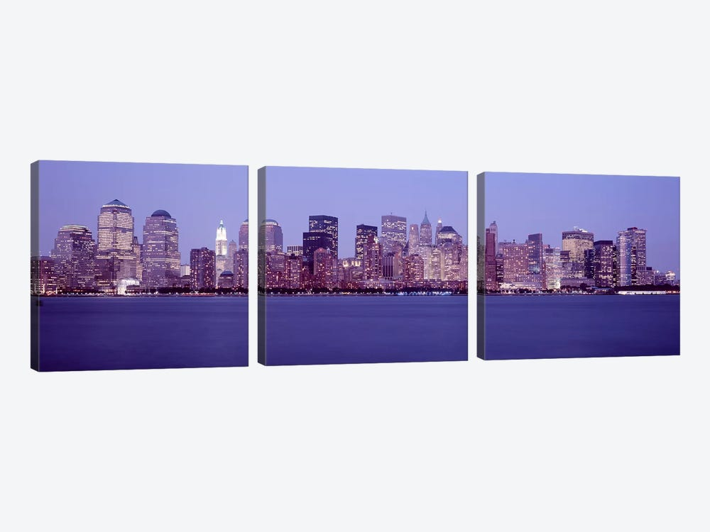 Skyscrapers in a city, Manhattan, New York City, New York, USA #2 by Panoramic Images 3-piece Canvas Artwork