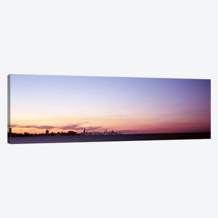 Skyscrapers At Dusk, Chicago, Illinois, USA Canvas Print #PIM4733} by Panoramic Images Canvas Art Print
