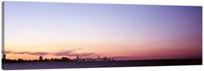 Skyscrapers At Dusk, Chicago, Illinois, USA Canvas Print #PIM4733