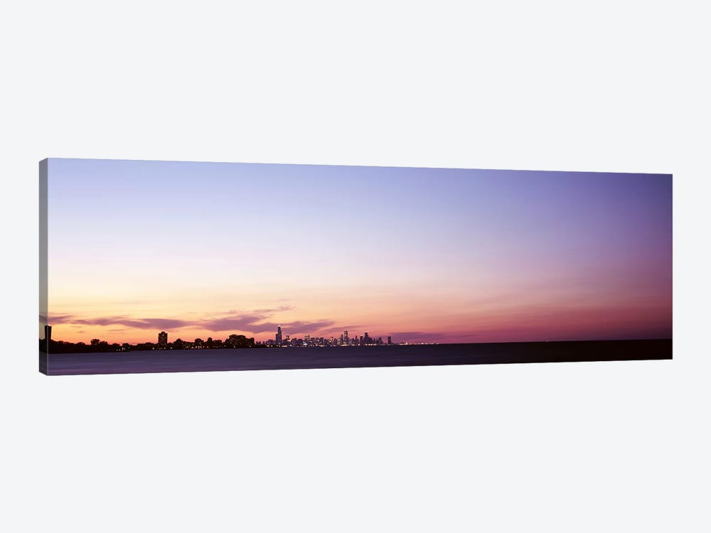 Skyscrapers At Dusk, Chicago, Illinois, USA by Panoramic Images 1-piece Canvas Print