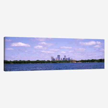Skyscrapers in a city, Chain Of Lakes Park, Minneapolis, Minnesota, USA Canvas Print #PIM4734} by Panoramic Images Canvas Wall Art