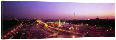 High angle view of Paris at dusk Canvas Print #PIM4742