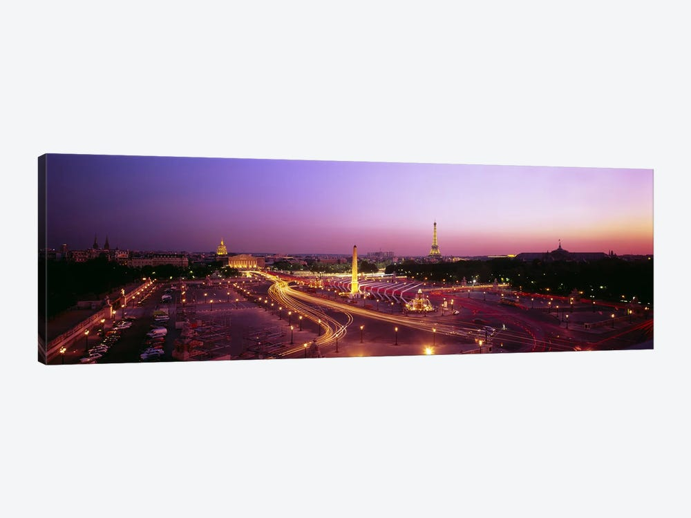 High angle view of Paris at dusk by Panoramic Images 1-piece Art Print