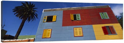 Brightly Colored Siding And Shutters, La Boca Barrio, Buenos Aires, Argentina Canvas Art Print