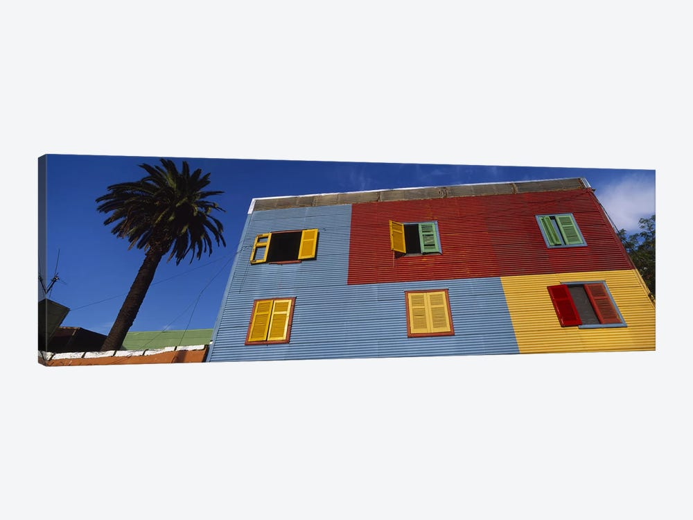 Brightly Colored Siding And Shutters, La Boca Barrio, Buenos Aires, Argentina by Panoramic Images 1-piece Canvas Art Print