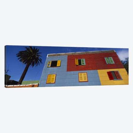 Brightly Colored Siding And Shutters, La Boca Barrio, Buenos Aires, Argentina 3-Piece Canvas #PIM4753} by Panoramic Images Art Print