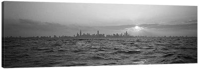 Sunset Over A City, Chicago, Illinois, USA Canvas Art Print