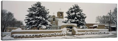 Facade of a church, San Francisco de Asis Church, Ranchos de Taos, Taos, New Mexico, USA Canvas Art Print
