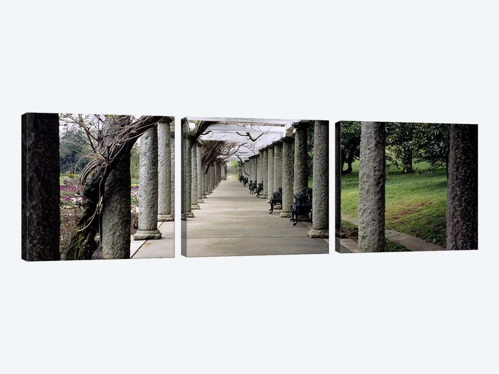Pergola Colonnades, Italian Garden, Maymont Estate, Richmond, Virginia, USA by Panoramic Images 3-piece Canvas Print