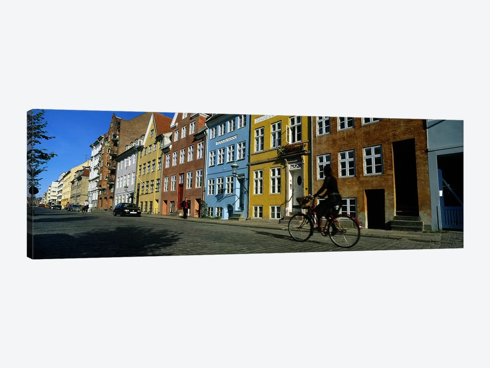 Woman Riding A Bicycle, Copenhagen, Denmark by Panoramic Images 1-piece Canvas Art Print