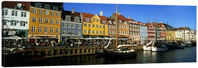 Waterfront Property, Nyhavn, Copenhagen, Denmark Canvas Art Print