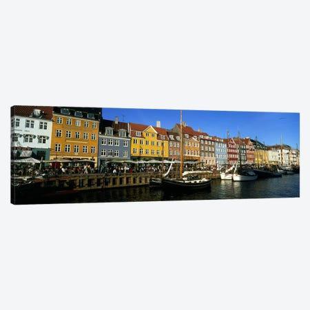 Waterfront Property, Nyhavn, Copenhagen, Denmark Canvas Print #PIM4767} by Panoramic Images Canvas Print