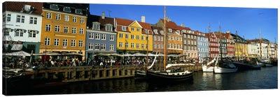 Waterfront Property, Nyhavn, Copenhagen, Denmark Canvas Art Print