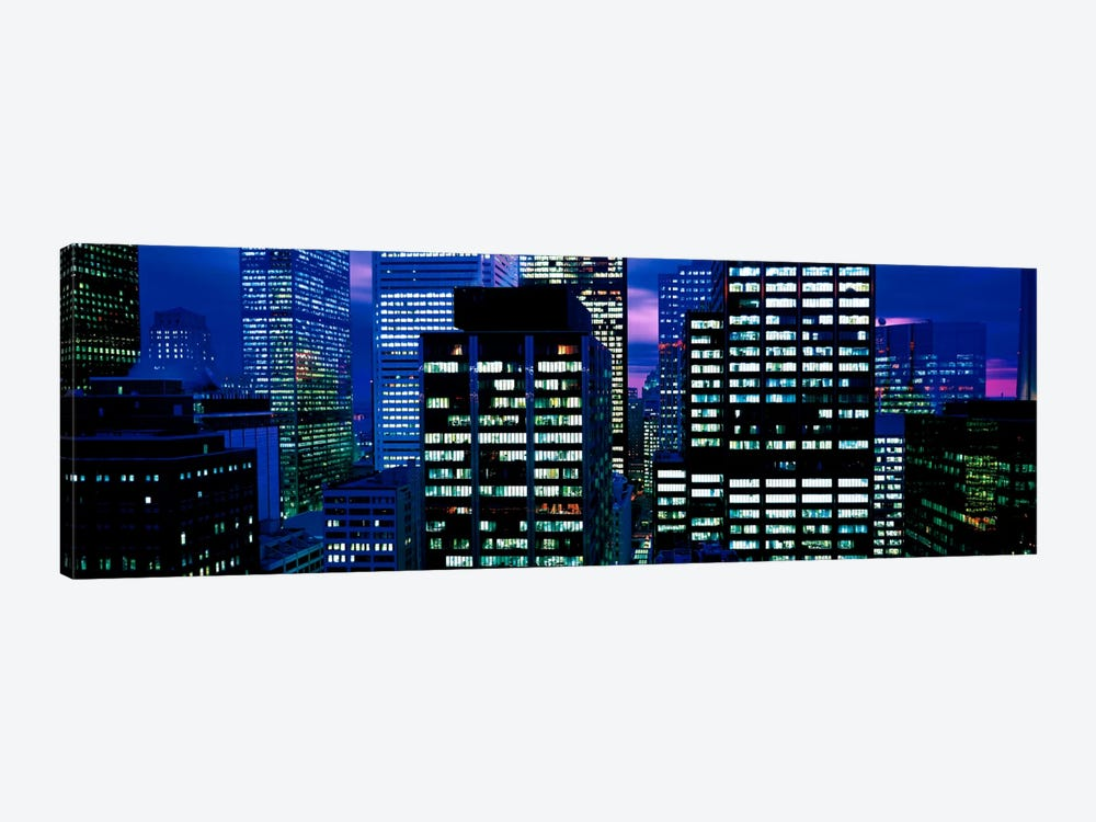 Downtown buildings Toronto Ontario Canada by Panoramic Images 1-piece Canvas Wall Art