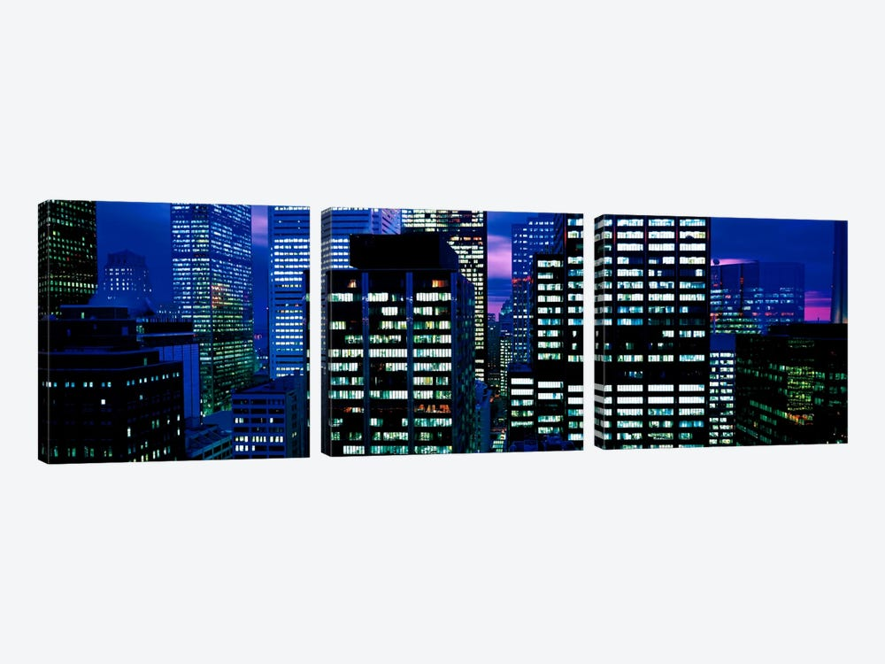 Downtown buildings Toronto Ontario Canada by Panoramic Images 3-piece Canvas Artwork